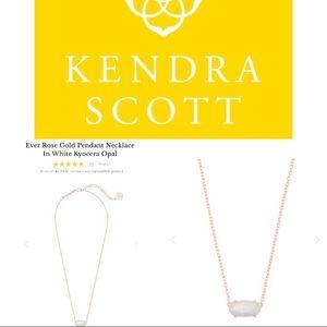 Kendra Scott Ever Rose Gold  Kyocera Opal Necklace